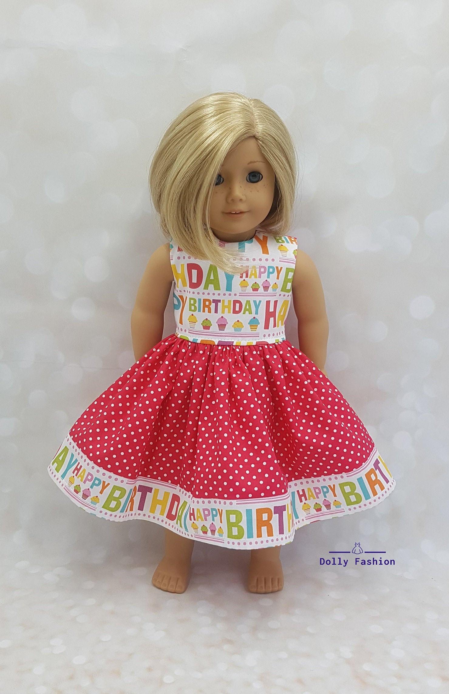 Alles Gute Zum Geburtstag Kleid Passen 18 Puppen Wie  Etsy