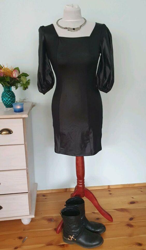 Atemberaubendes Schwarzes Enges Sexy Kleid Xs Fake Leather