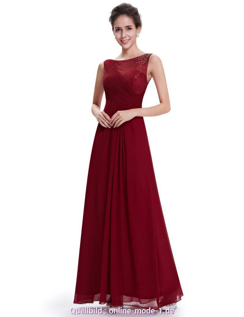 Bemerkenswert Kleid Weinrot Lang Moderneschiffonkleid