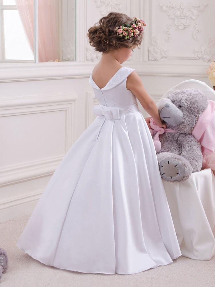 Blumenmädchen Kleider Weiß Abendkleider Für Hochzeit
