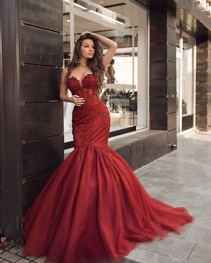 Designer Abendkleider Lang Rot  Abiballkleider Günstig