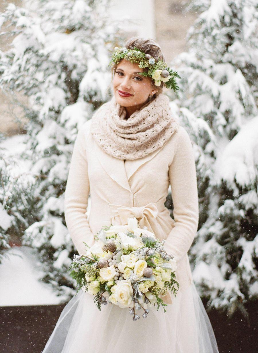 Elegant  Rustic Winter Wedding Inspiration  Elizabeth