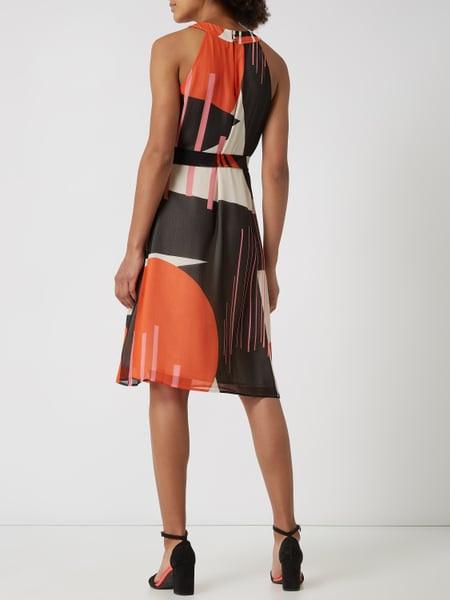 Esprit Collection Kleid Aus Chiffon Mit Grafischem Muster