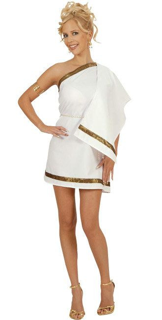 Griechische Göttin Damenkostüm Antike Weissgold  Kostüme