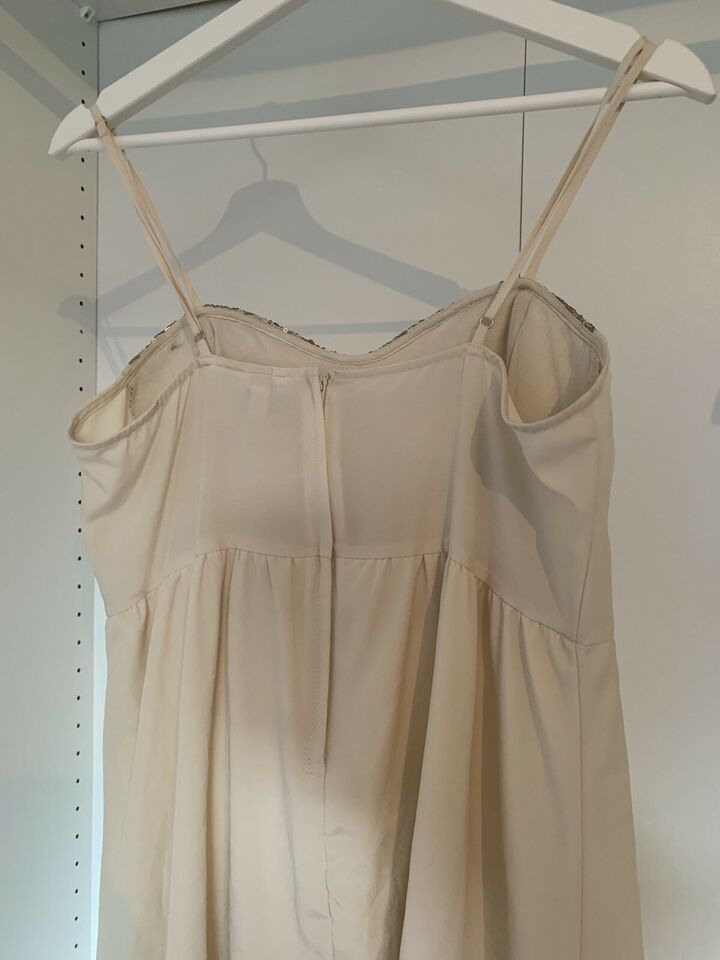 Hm Beige/Goldenes Kleid/Tunika Mit Pailletten Gr M In