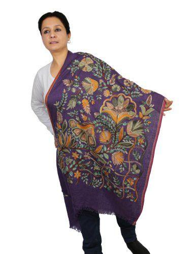 Indische Kleider Accessoires Bestickt Wolle Schal Für