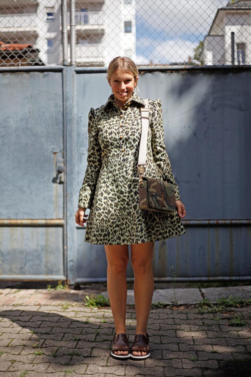 Jourlook Leopardenkleid Und Camouflagetasche  Journelles