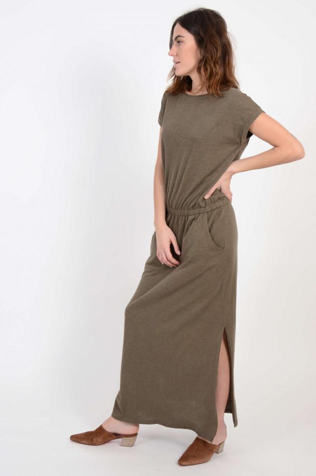 Juvia Kleid In Oliv Meliert  Gruenerat