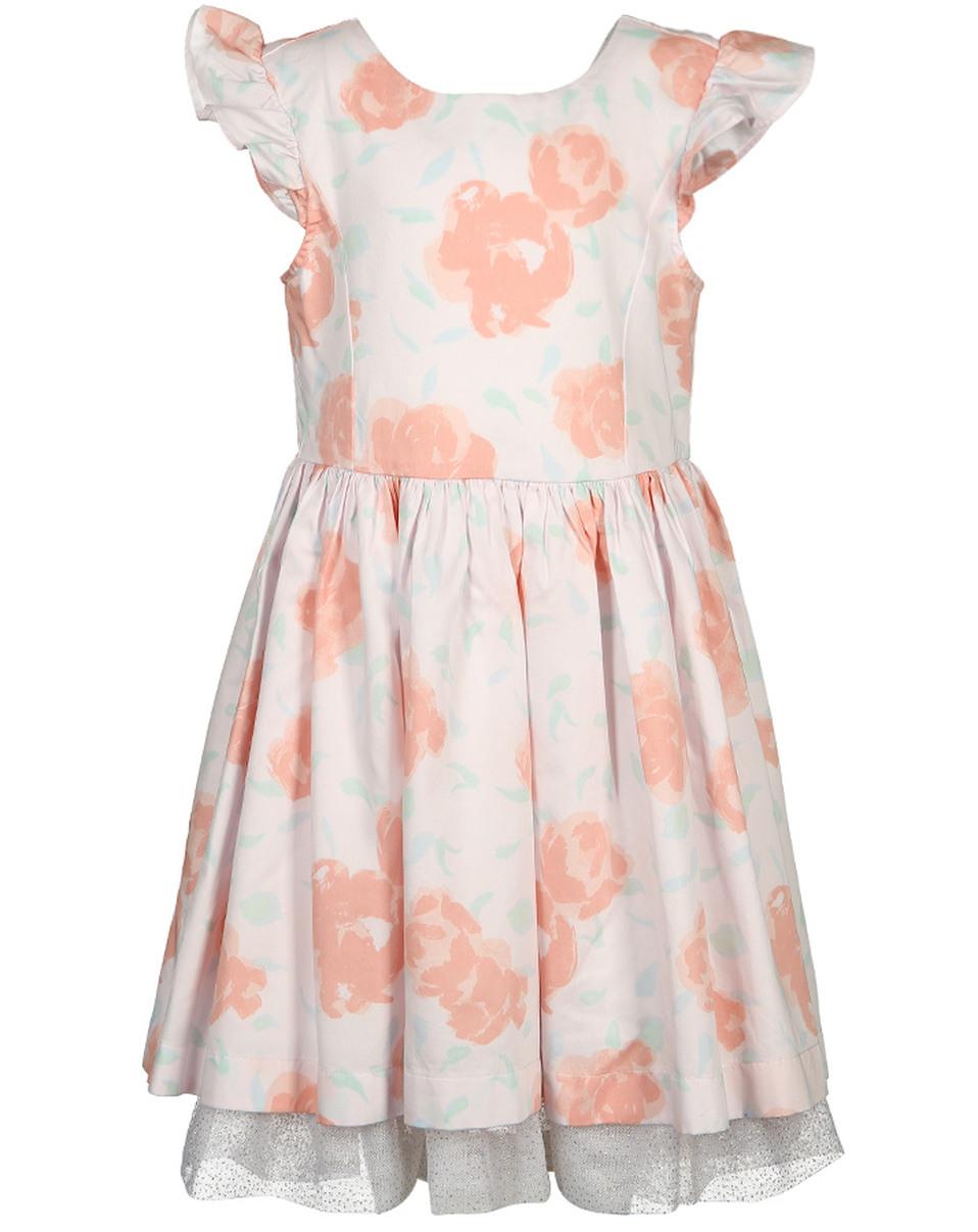 Kleid Floriane Mit Tüll In Rosa