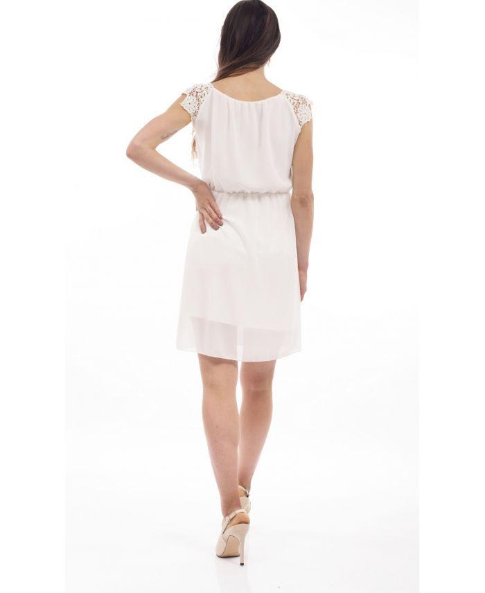 Kleid Spitze S9211 Weiß  Wwwgrossistepretaporter