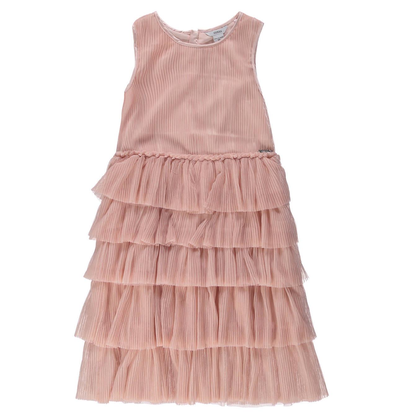 Kleid Volants Rundhalsausschnitt Für Mädchen  Guess