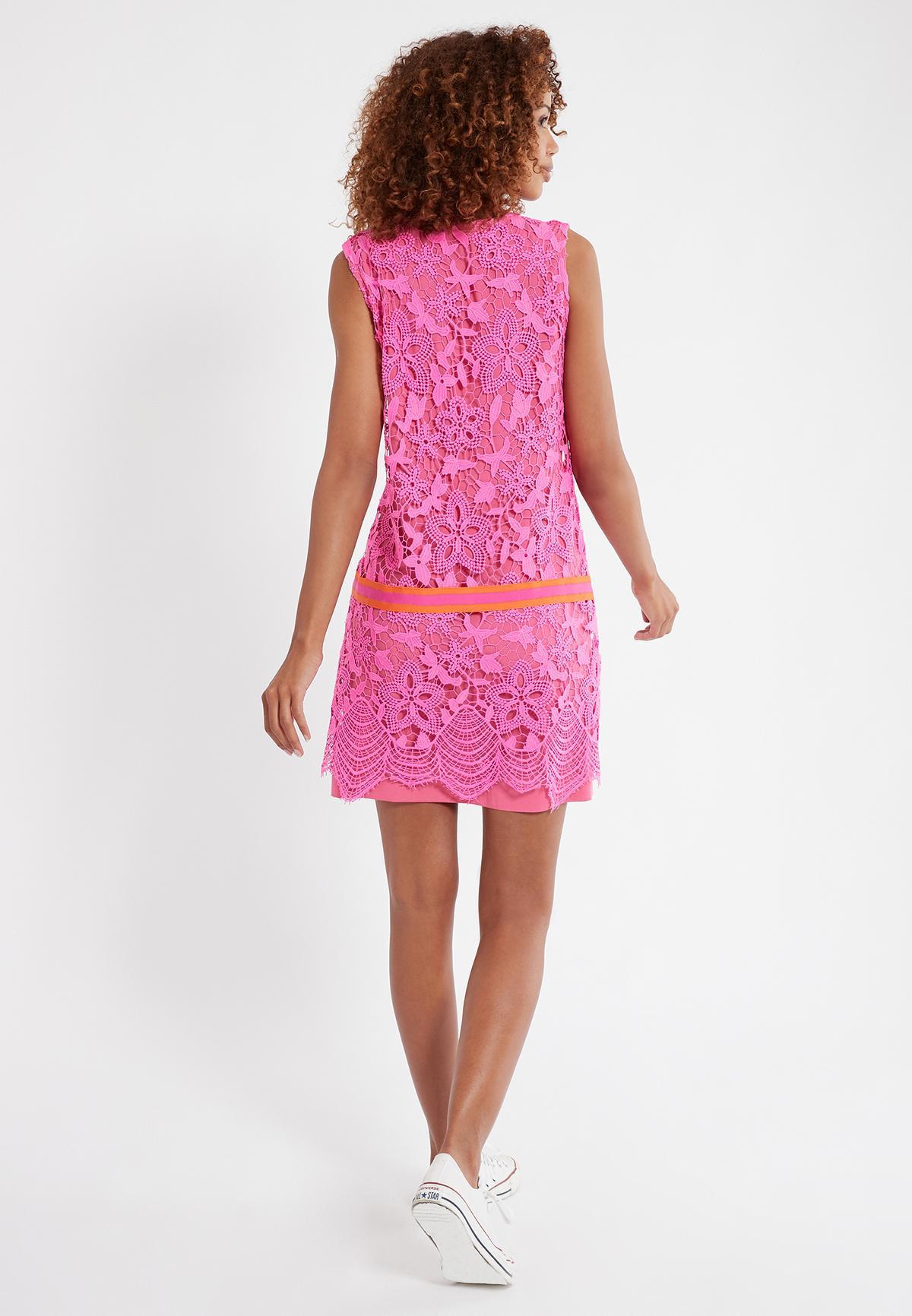 Kurzes Kleid Sagena Aus Spitze In Pink  Ana Alcazar