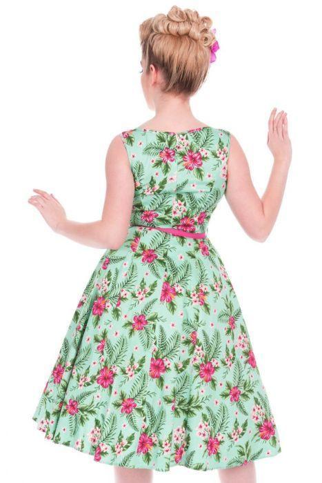 Lady Vintage 40Er Jahre Vintage Retro Blumen Kleid