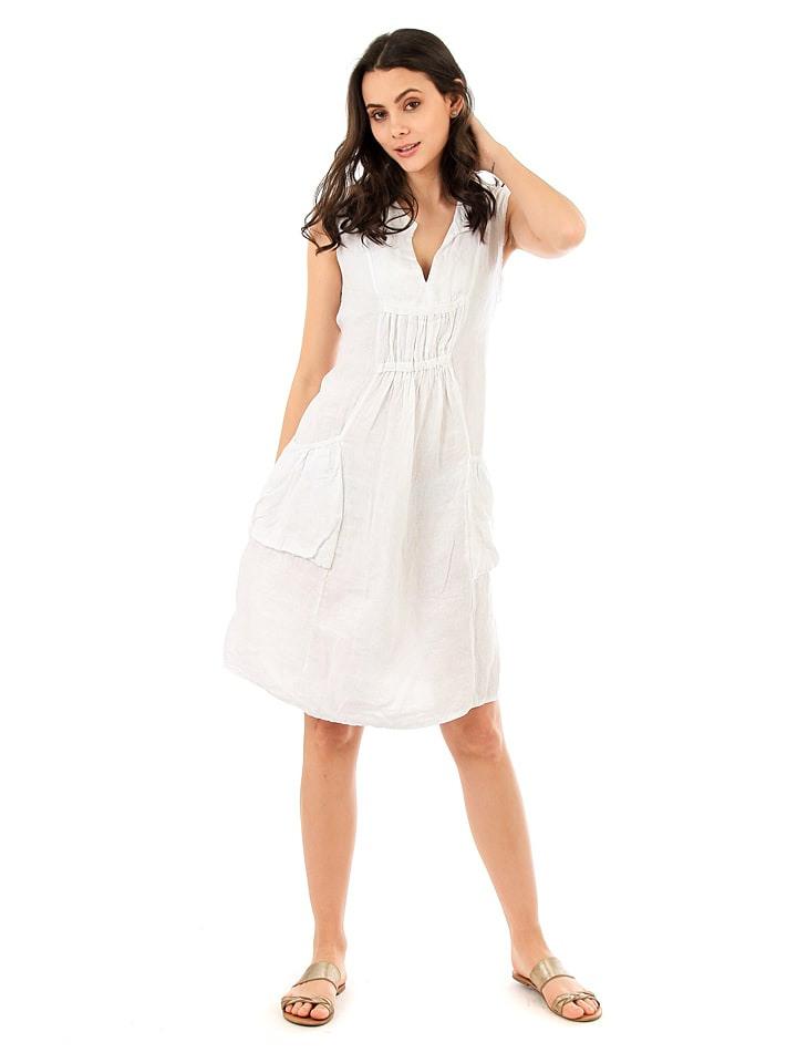 Lin Passion Leinenkleid In Weiß Günstig Kaufen  Limango