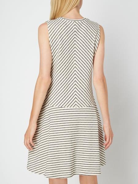 Opus Kleid Mit Streifenmuster In Weiß Online Kaufen