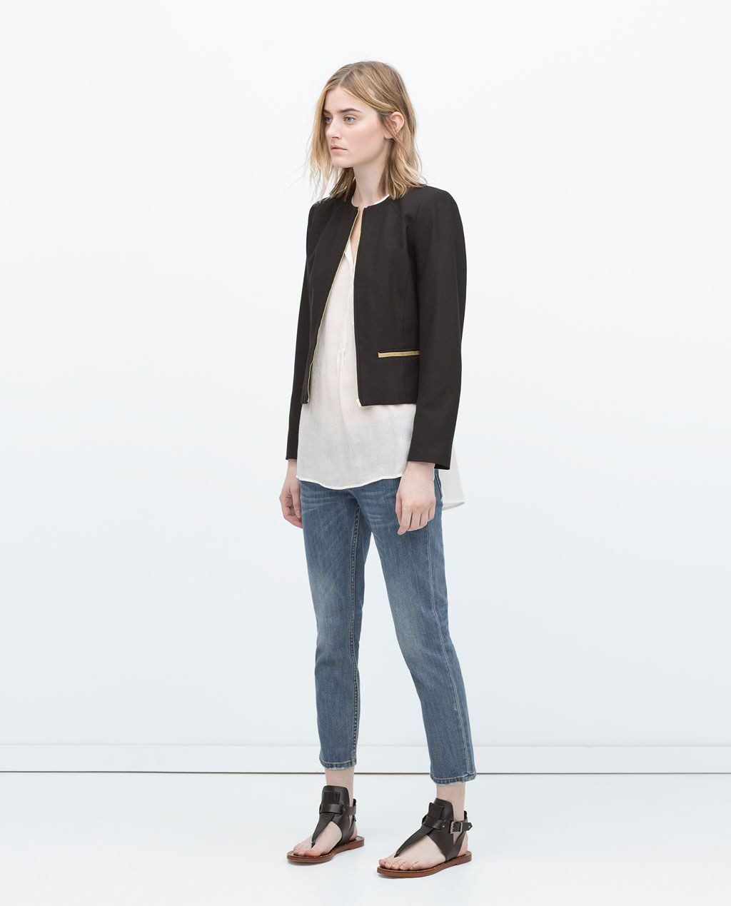 Pin Von Maria Jose Majo Auf Zara  Zara Blazer Jacken Frauen