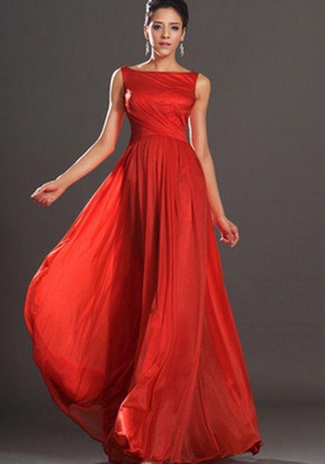 Rote Lange Kleider  Brautjungfernkleider Lang Lange