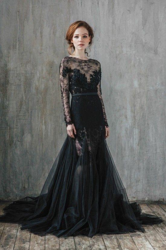 Schwarzes Brautkleid Für Die Moderne Braut In 2020 Mit