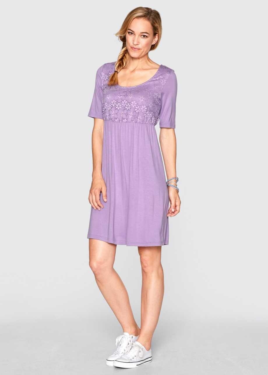 Spektakulär Kleid Flieder Spitze Vertrieb  Abendkleid