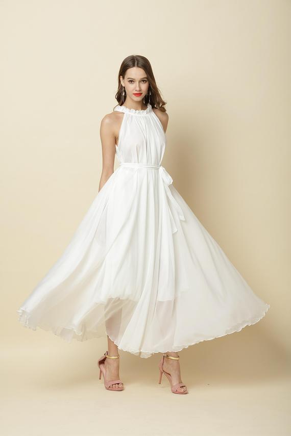 Strandkleid Weiss Lang Hochzeit  Hochzeits Idee