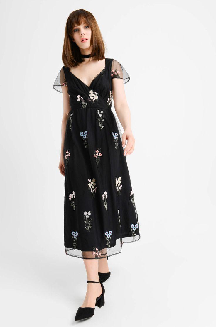 Sukienka Midi W Kwiaty  Orsay  Abendkleid Kleider