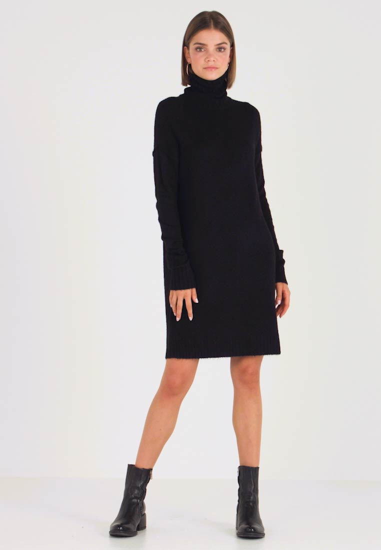 Vero Moda Vmluci Rollneck Dress  Strickkleid  Black
