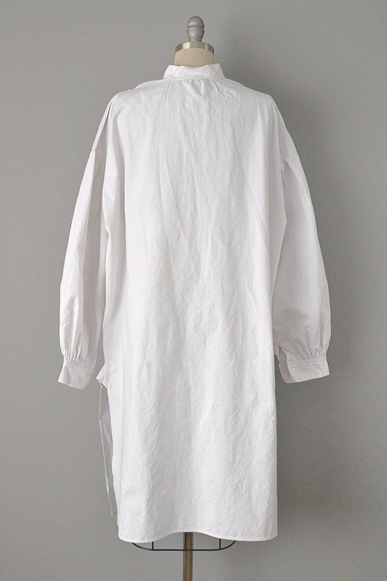 Viktorianischen Tunika / Boho Kleid / Weiße Baumwolle